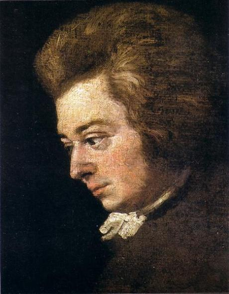 Mozart painted by Lange in 1783